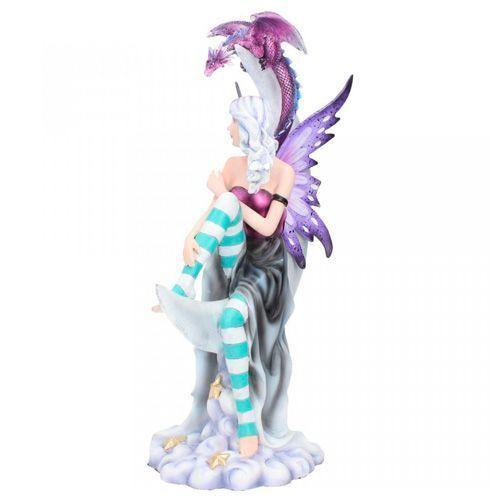 Figura de hada luna dragón