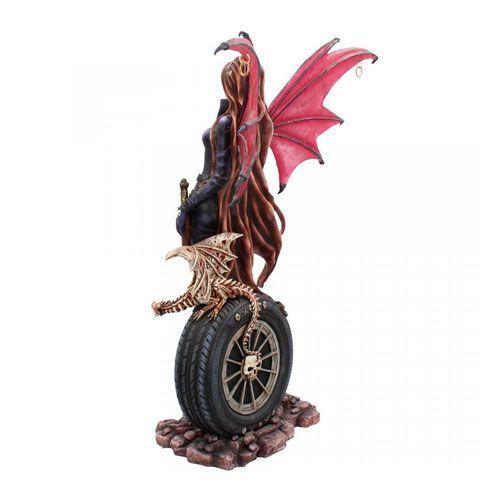 Figura hada dragón dorado