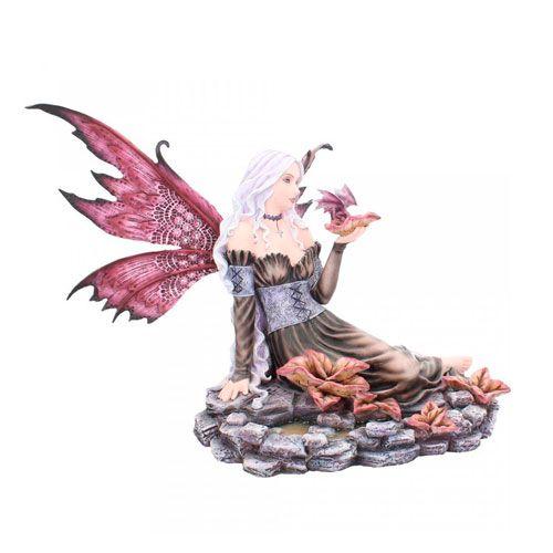 Figura hada y dragón lila