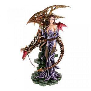 Figura hada dragón zombie