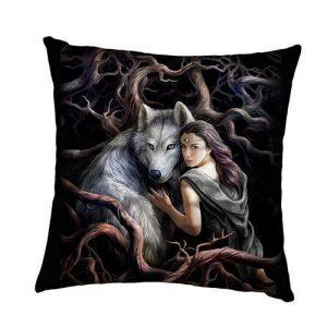 Cojín lobo y princesa