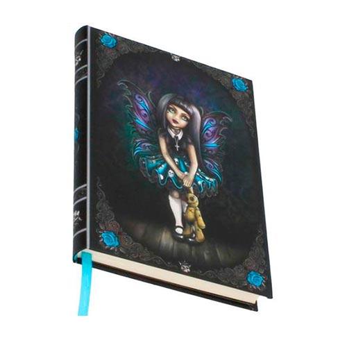 Cuaderno en relieve hada gótica