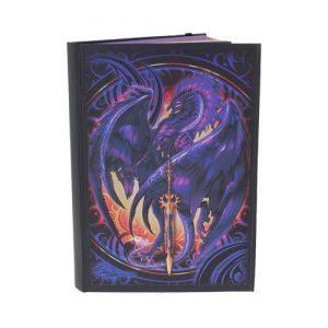 Cuaderno de dragón morado