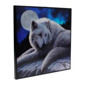 Cuadro lobo blanco