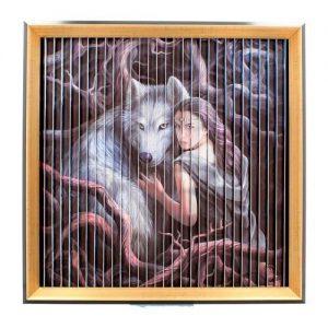 Cuadro lobos Anne Stokes