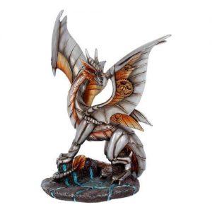 Figura dragón acero