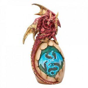 Figura dragón lámpara