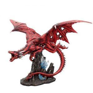 Figura dragón rojo